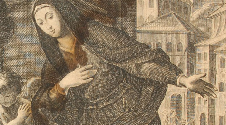 Print of the Ecuatorian Saint Mary Ann of Jesus | Saint of the Day